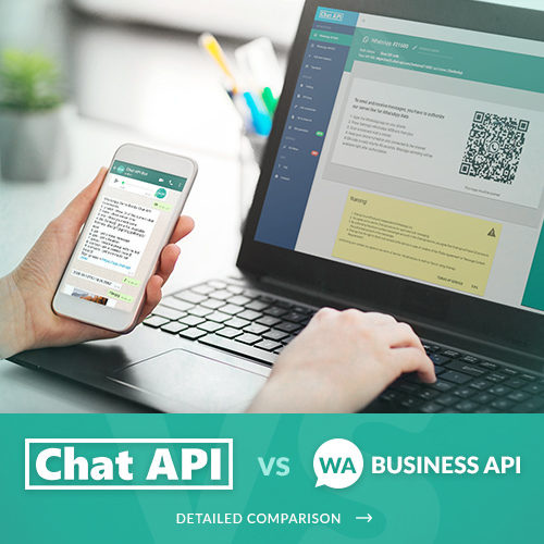 compare chat-api to official watsap api